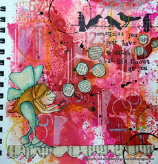 Art Journal - Throw and catch (thekathrynwheel) Tags: artjournal journaling stampotique dylusions