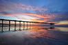 Venus over Scripps Pier (Lee Sie) Tags: california sea sky seascape reflection beach wet water clouds coast pier sand waves lajolla lowtide shores scripps ccl sandiegosunset