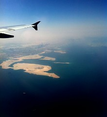 Dubai Aerial (! ASH !) Tags: world out airplane dubai skyscrapers uae aerial khalifa burj iphone tallest iphone4
