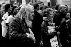 long haired demonstrator? (Paul Steptoe Riley) Tags: november london public workers sector strike 30th 2011
