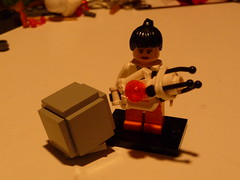 Chell with WCC and Portal Gun (The_Flash98) Tags: 2 gun lego cube portal companion chell weighted sawu brickarms