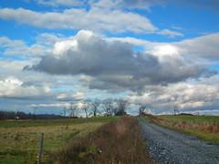 The Farm Road (vtpeacenik) Tags: road november field landscape vermont