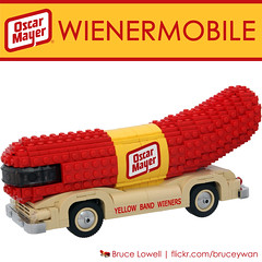 Oh I Wish I Were an Oscar Mayer Wiener! (bruceywan) Tags: car yellow mobile oscar lego famous band wiener mayer wienermobile photostream littleoscar lowellsphere wienermobileblcom brucelowellcom lowellspherebl