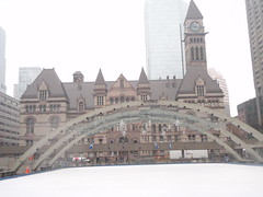 Historic City Hall Toronto Outdoor Skating Rink (Mr. Happy Face - Peace :)) Tags: city toronto ontario canada history architecture vintage downtown landmarks archives streetscape lawsociety uppercanada outdooriceskating