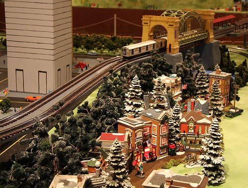 Christmas Train Set Up Rooms