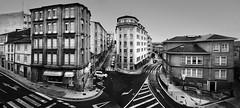 Copiando Lugo (Fernando Rey) Tags: city bw panorama españa spain panoramic bn panoramica lugo homenaje mellado cuidad