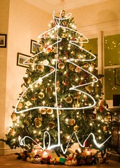 Christmas Tree 2011 (Deirdre Gregg) Tags: christmas ireland decorations tree lights paintingwithlight northernireland portstewart 2011