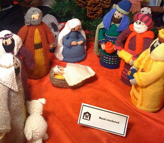 hand crocheted nativity