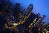 Manhattan Skyline (Nick Mulcock) Tags: park new york city nyc blue sunset sky building cars yellow fog skyline lights hotel town traffic dusk manhattan cab taxi central midtown le mid parker citicorp meridien trafic