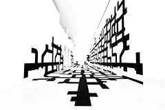 Spatial Structures (Cornelli2010) Tags: blackandwhite bw abstract berlin art lines museum modern contrast gallery space raum kunst structures sw spatial kontrast abstrakt kunstwerk linien strukturen canon500d sigma1020 schwarzweis berlinischegalerie jrgenmayerh rebelt1i