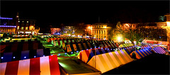 Norwich Market Panorama (jammo s) Tags: old city colour night lights market tripod norfolk norwich marketplace middleages manfrotto sigma1020mm norwichmarket jammo canoneos60d 900years medievalnorwich