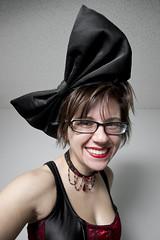 Day 1773 (evaxebra) Tags: red black glasses big 21 bow huge ribbon forever lipstick 365 headband ewa 365days evaxebra