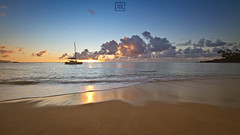 Waimea Bay 1 (Dezign Horizon) Tags: ocean sunset summer sky beach nature water clouds sailboat landscape hawaii sand oahu waimeabay