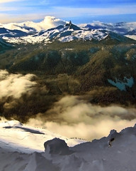 Backcountry Descent II - Pacific Coast Mountains, Canada (david schweitzer) Tags: park travel winter mountain lake snow canada ski mountains ice nature beauty rock wow landscape whistler snowboarding volcano coast frozen rainforest skiing britishcolumbia glacier adventure crater backpack summit backcountry craterlake volcanic range garibaldi touring blacktusk icefields blackcomb gettyimages tantalusrange snowscape provincial icefield cheakamus coastmountains stratovolcano garibaldiprovincialpark davidschweitzer galleryoffantasticshots