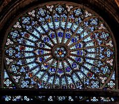 "Rose Window (Tony Shertila) Tags: france church europe cathedral religion stainedglass spire rouen rosewindow ""flickraward"" mygearandme"