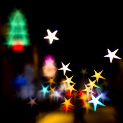 happy abstract starry christmas! (Black Cat Photos) Tags: christmas xmas uk england abstract night lensbaby blackcat shopping stars photography lights photo aperture europe bokeh leeds parkrow surreal m disk crowds happychristmas starshaped christmassy blackcatphotos