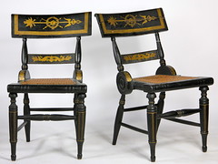58. Pair of American Fancy Chairs