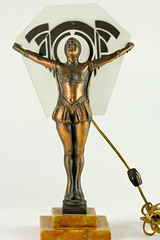 85. Art Deco Figural Lamp