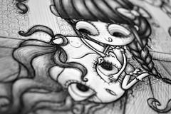 Dulces juegos WIP (Anita Mejia) Tags: cute girl illustration room creepy gore macabre inks playroom chocolatita anitamejia
