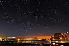 Hazy Shade of Winter (RF-Edin) Tags: uk scotland edinburgh startrails southqueensferry forthbridges