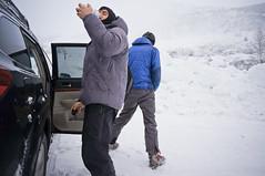 in and out it goes. (michael spear hawkins) Tags: winter mountain snow ski alaska skiing parking hill drinking lot son 16mm peeing girdwood alyeska winter2011 nex5n
