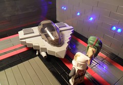 Kit Fisto's Prototype Fighter (Fithboy) Tags: colour brick star lego prototype jedi wars clone gunner