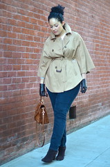 Weekend Chic (GirlWithCurves) Tags: style gloves booties aviators fallfashion plussize styleblog plussizefashion trenchcape girlwithcurves