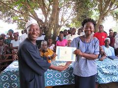 Principal secondary school receiving certificate
