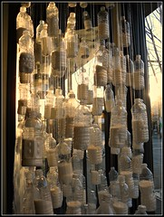 Winter In A Bottle (Mark Faviell Photos) Tags: street water backlight vancouver bottle bc display main east
