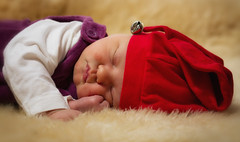My Precious little Christmas elf (Aspiriini) Tags: sleeping portrait baby girl child bell sleep aino tonttu christmashat vauva christmaself tonttulakki jonilehto aspiriini