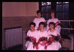 KHSDA 122111 08 (Kensington High School Phila. Archive) Tags: flowers school girls philadelphia pose women group graduation ceremony highschool pa philly bouquet kensington 1960s commencement 1964 phila kensingtonhighschool