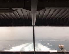 (Giuseppe Portuesi) Tags: city sea mountains glass boat wave sicily milazzo