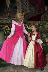 Aurora and Christmas Belle (Angelasews) Tags: costume dress princess handmade disneyland disney aurora belle sleepingbeauty princessfantasyfaire christmasbelle