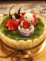 Hello Kitty Green Tea Tiramisu ({ Sweet Xpressions } Cake) Tags: hellokitty birthdaycake greenteatiramisu birthdaycakesugartopeprfondantgumpaste