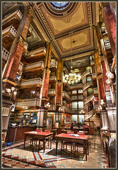 Iowa State Capitol - Law Library (w4nd3rl0st (InspiredinDesMoines)) Tags: 2011 canon 7d 1585 indoor law legal library desmoines iowa capitol building statecapitol reading studying stairs spiralstairs mountainsofbooks tall vertirama photostitching hdr nik hdrefx vanguard w4nd3rlost jason mrachina historical history important tables aweinspiring old heights desmoinesisnotboring altapro 263at soetop50top50spotstoshootindesmoines