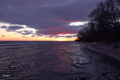 Sunset at Presqu'ile (gabi-h) Tags: blue trees sunset sun ontario water clouds sundown lakeontario presquile gabih