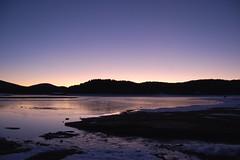 First day, first photo! Happy new year!!!! (renatomusacchio) Tags: sunset lake ice water lago tramonto acqua sila ghiaccio arvo