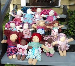 all the ladies together (Sami's Dolls) Tags: elephant turtle stuffedanimals samu handmadetoys waldorfdolls waldorftoys samiramina samisdolls