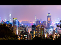 Anniversary (terencehonin) Tags: leica city light night 35mm landscape hongkong view  icc  ifc nokton f12 m9  thecenter  m9p voigtlnder35mmf12noktonaspherical