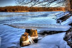 Balancing Act (Jon Larson) Tags: winter ice january mississippiriver wp