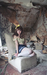 (yyellowbird) Tags: house abandoned girl wisconsin chair sitting lolita cari jdkfh