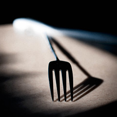 "and i'm like ""fork you"" (elmofoto) Tags: shadow film monochrome square dof fav50 4 grain fork beta adobe metaphor sublime utensil 500v lightroom 1000v fav25 fav100 fav75 elmofoto lorenzomontezemolo"