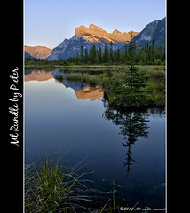 Mt Rundle (pDOTeter) Tags: lake canada reflection alberta banff vermilion rundle mtrundle vermilionlake