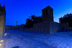 Al Bastakiya before the Dawn breaks (Neha & Chittaranjan Desai) Tags: dawn al twilight dubai bastakiya fahidi