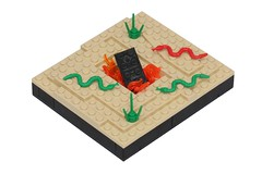 Tortured Earth (pasukaru76) Tags: desert lego flames megabloks snakes vignette moc canon100mm