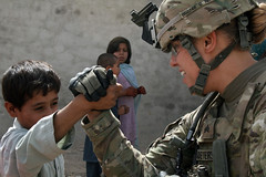 Muscles (2nd BCT, 4th ID) Tags: afghanistan children soldier security militarypolice soldiers patrol kandahar mps aup warhorse 4thinfantrydivision 2ndbrigadecombatteam afghanuniformedpolice