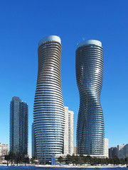 Absolute Towers (livinginacity) Tags: new city urban canada building marilyn museum modern buildings wow wonderful design cool superb contemporary unique marilynmonroe awesome towers surreal wicked monroe scifi civic condos sublime mississauga urbanism  recent condominiums absolute joyous avantgarde institutional marilyns sensuous   dundasstreet   somethingnew   idiosyncratic archidose   a localsknow absolutetowers  martoronto
