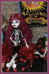 Monster High Doll Skeleton (2mnedolz) Tags: skeleton doll wig sublime plur customdoll skeletondoll createamonster monsterhigh monsterhighdoll createamonsterskeleton monsterhighskeleton