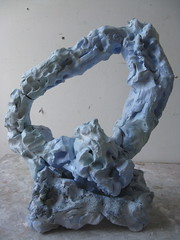 Heart's Portal to Nature (Plant Design Online) Tags: blue sculpture art ceramic heart clay portal aesthetics