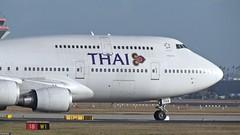 Thai Airways - Boeing 747-4D7, HS-TGX (Bernd 2011) Tags: plane germany airplane deutschland airport hessen aircraft boeing flughafen flugzeug 747 spotting fra thaiairways taxiing fraport frankfurtairport runway18 hstgx passagierflugzeuge